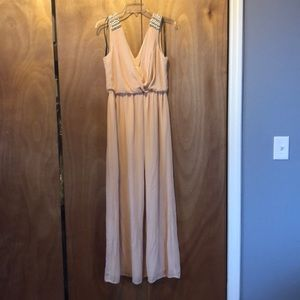 Forever 21 pale pink deep v gown